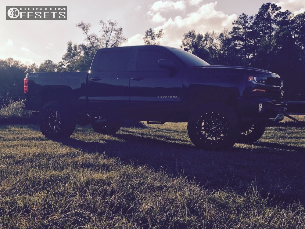 16 2016 Silverado 1500 Chevrolet Suspension Lift 6 Hostile Sprocket Black Milled Super Aggressive 3 5