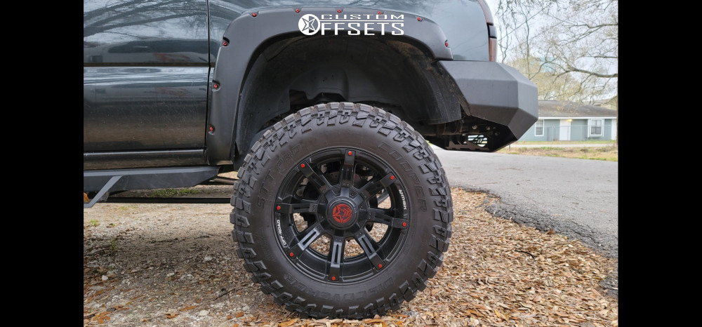 "2005 Chevrolet Silverado 1500 Super Aggressive 3""-5"" on 20x12 -44 offset Anthem Off-Road Defender and 37""x12.5"" Cooper Discoverer Stt Pro on Suspension Lift 9"" - Custom Offsets Gallery"