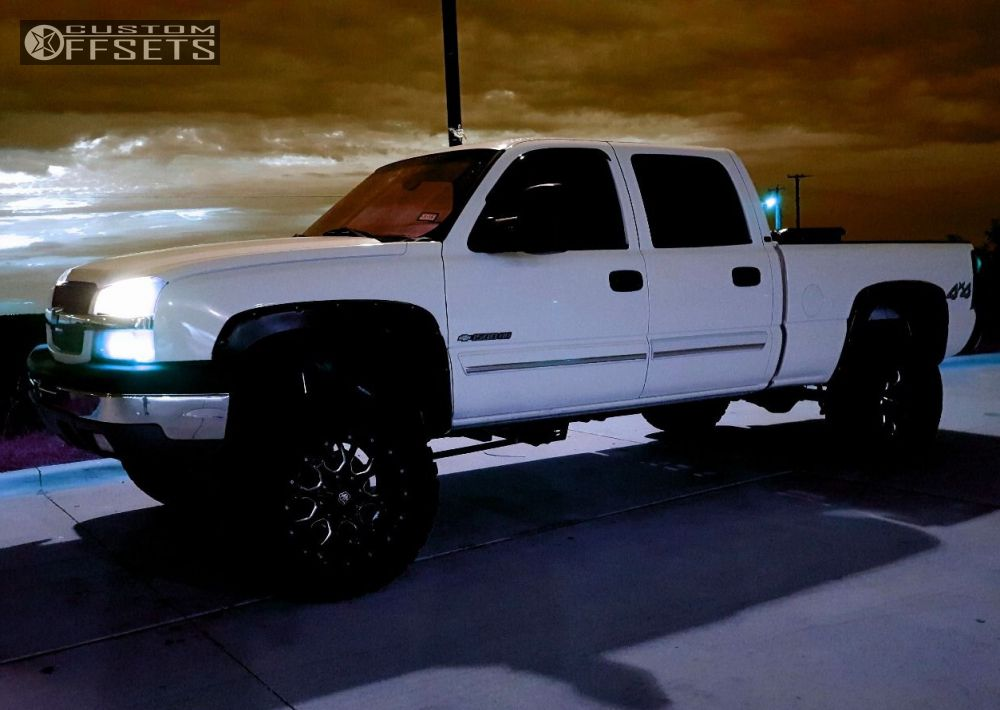 1 2005 Silverado 1500 Hd Chevrolet Suspension Lift 6 Mayhem Warrior Machined Black Super Aggressive 3 5