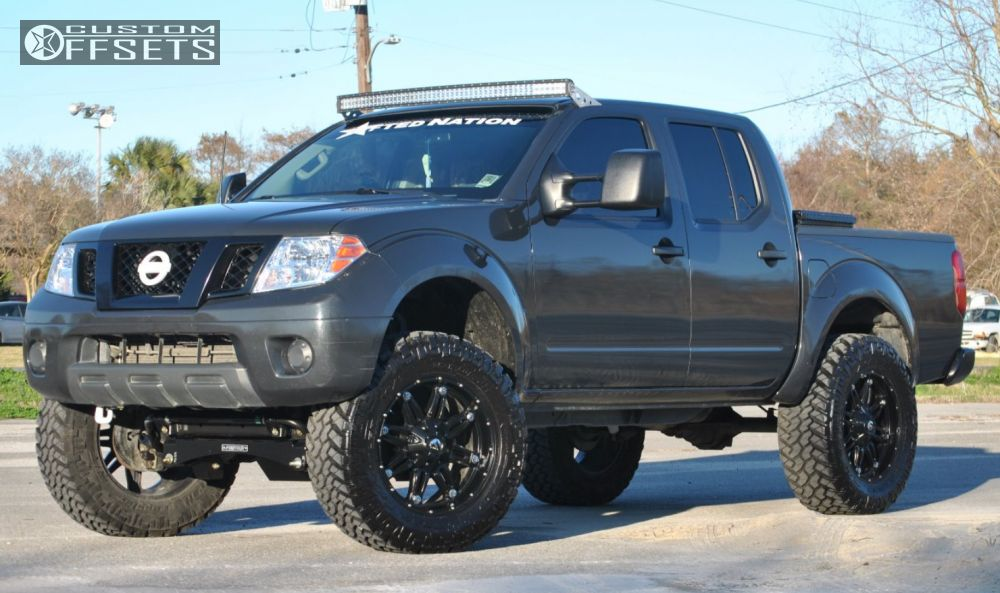 Wheel Offset 2012 Nissan Frontier Slightly Aggressive
