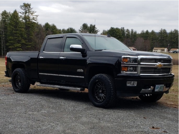 """2015 Chevrolet Silverado 1500 Aggressive > 1"""" outside fender on 20x10 -25 offset ARKON OFF-ROAD Caesar and 275/60 Nitto Ridge Grappler on Leveling Kit - Custom Offsets Gallery"""