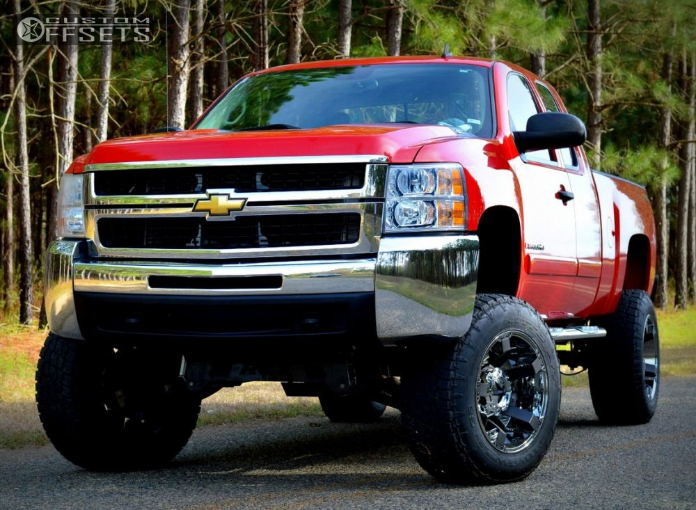 1 2008 Silverado 2500 Hd Chevrolet Suspension Lift 6 Xd Xd811 Chrome Super Aggressive 3 5