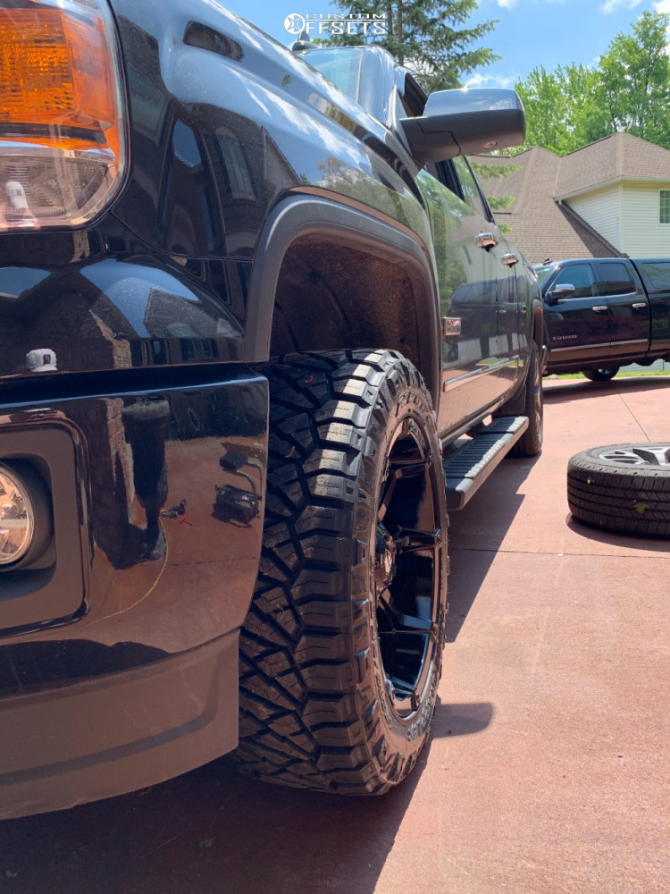 2015 GMC Sierra 1500 Slightly Aggressive on 20x10 -18 offset Fuel Coupler and 285/55 Nitto Ridge Grappler on Stock - Custom Offsets Gallery