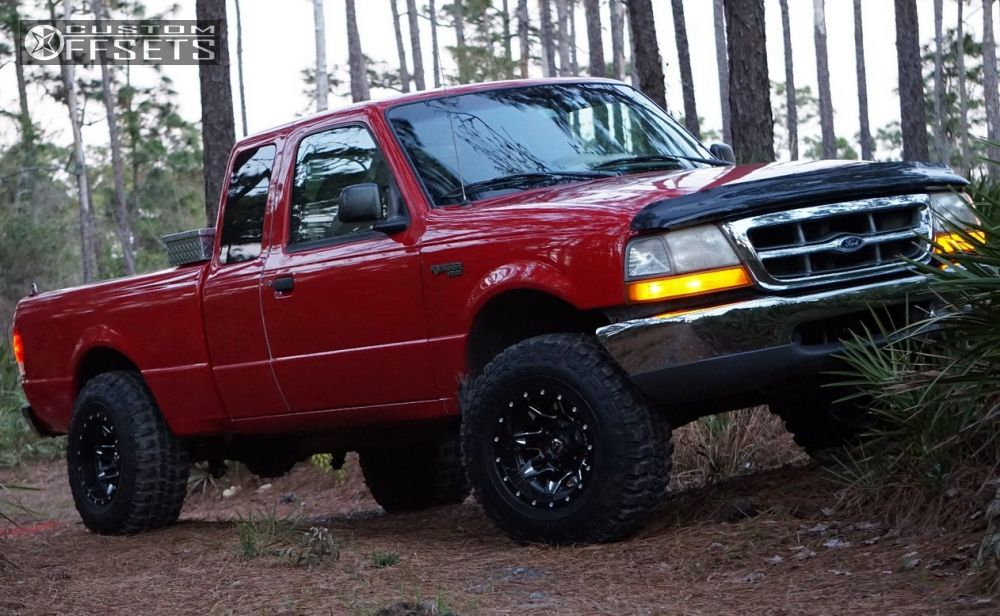 15773 1 2000 ranger ford suspension lift 6 fuel lethal black aggressive 1 outside fender - 2000 Ford Ranger Black