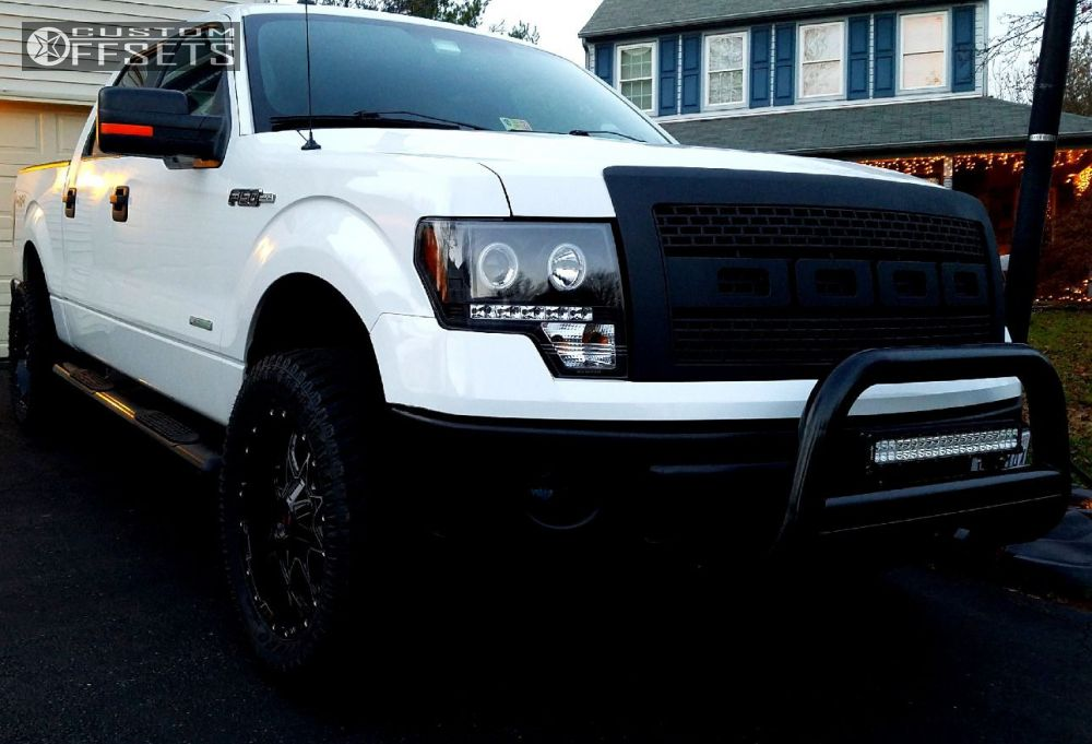 1 2012 F 150 Ford Leveling Kit Scorpion Sc10 Black Machined