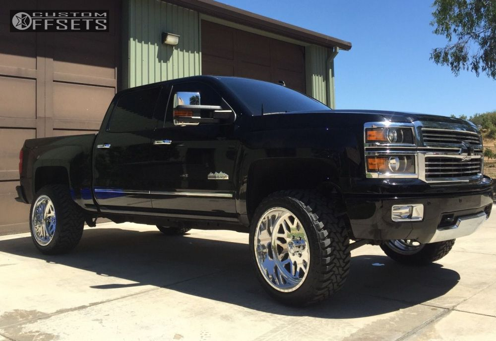 1 2014 Silverado 1500 Chevrolet Suspension Lift 45 American Force Trax Ss Chrome Aggressive 1 Outside Fender