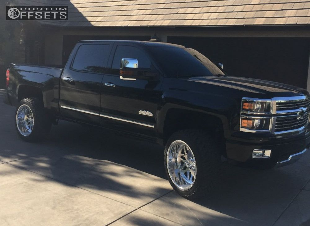 3 2014 Silverado 1500 Chevrolet Suspension Lift 45 American Force Trax Ss Chrome Aggressive 1 Outside Fender