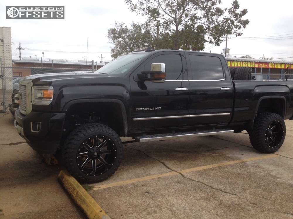 1 2016 Sierra 2500 Hd Gmc Suspension Lift 5 Fuel Maverick Black Super Aggressive 3 5