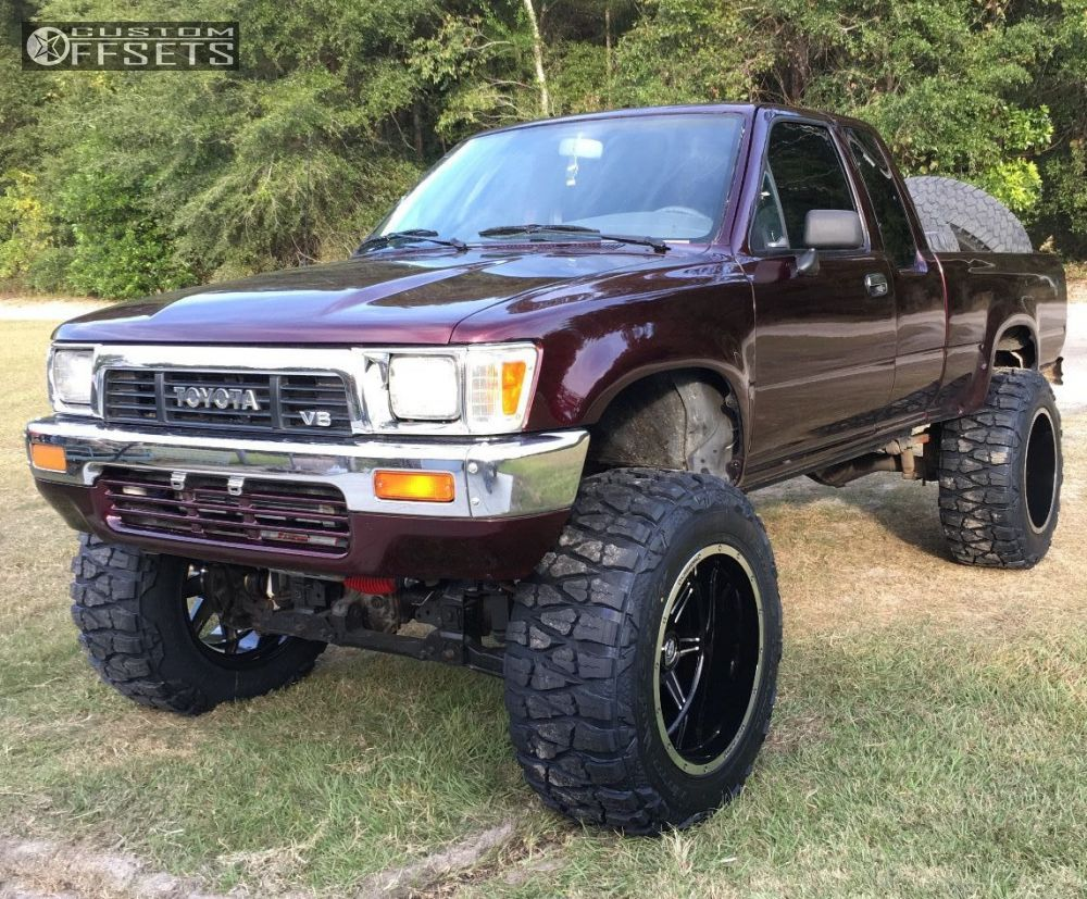 1 1990 pickup toyota suspension lift 75 vision cannibal machined black super aggressive 3 5