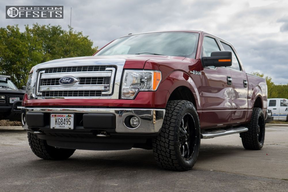 1 2013 F 150 Ford Stock Moto Metal Mo970 Machined Accents Slightly Aggressive