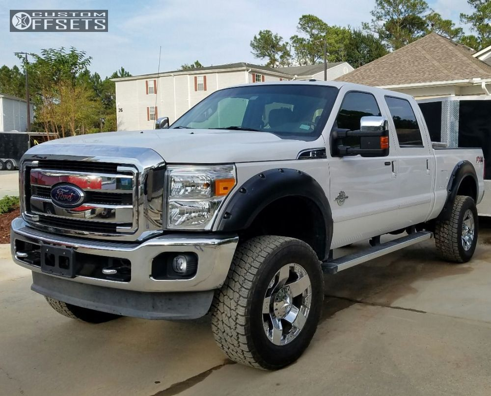 1 2012 f 250 super duty ford suspension lift 45 xd xd775 chrome slightly aggressive