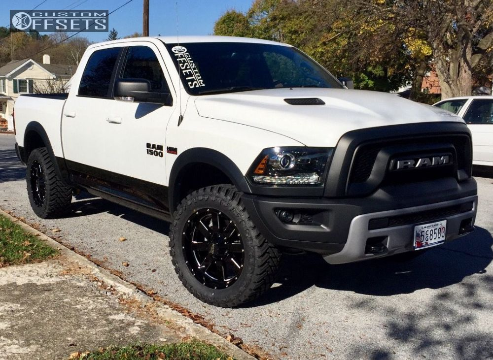 Ram 1500 Aftermarket Wheels >> Wheel Offset 2016 Ram 1500 Slightly Aggressive Stock