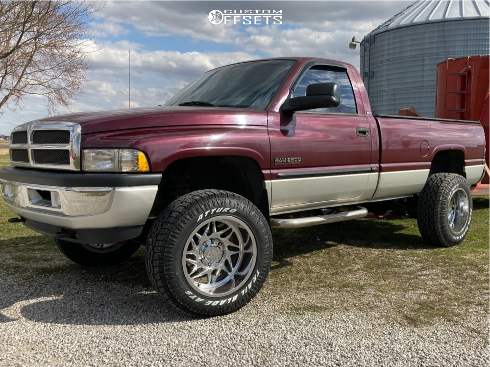 "2001 Dodge Ram 2500 Super Aggressive 3""-5"" on 20x12 -51 offset Cali Off-Road Gemini and 35""x12.5"" Atturo Trail Blade Ats on Leveling Kit - Custom Offsets Gallery"