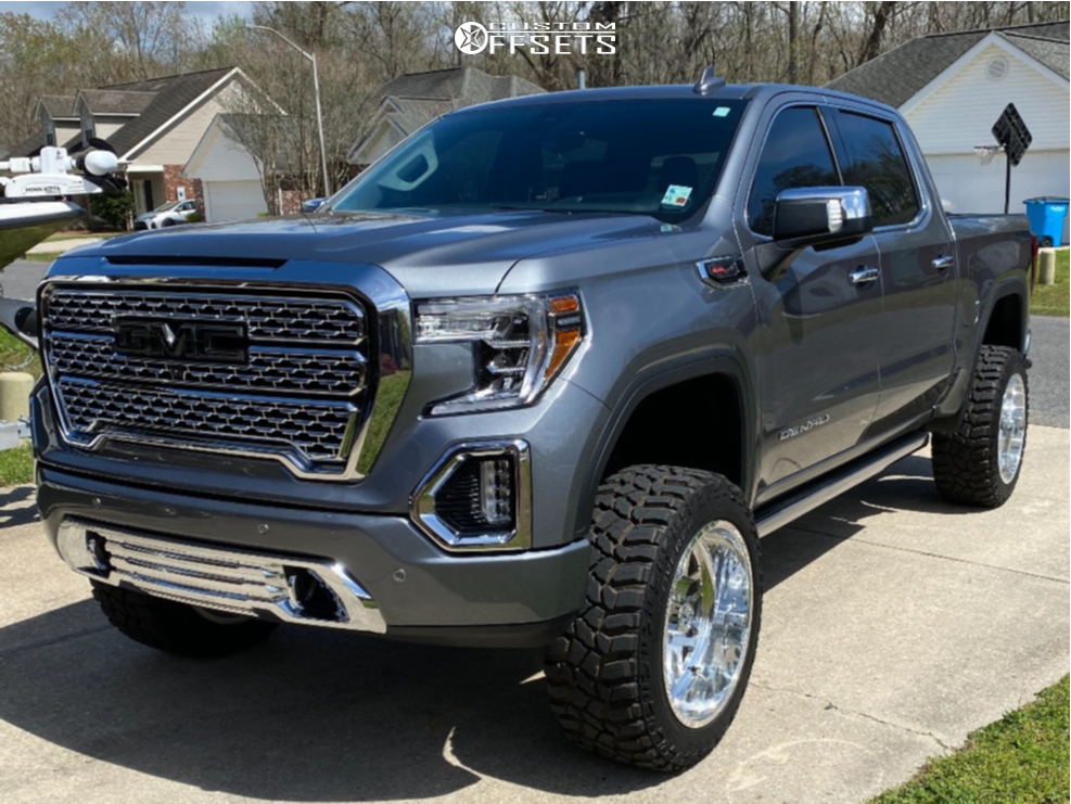 """2020 GMC Sierra 1500 Super Aggressive 3""""-5"""" on 22x12 -40 offset American Force Trax Ss and 35""""x12.5"""" Cooper Discoverer Stt Pro on Suspension Lift 6"""" - Custom Offsets Gallery"""