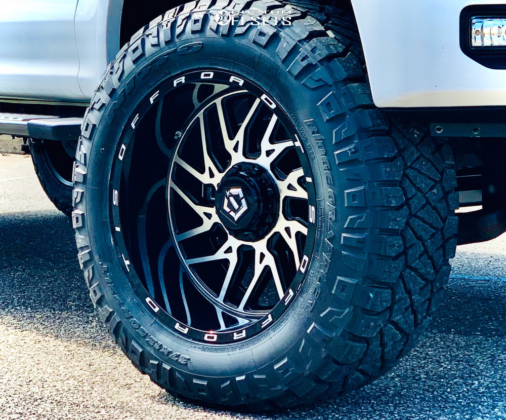 """2017 Ford F-150 Aggressive > 1"""" outside fender on 22x12 -45 offset TIS 544bmr and 37""""x13.5"""" Nitto Ridge Grapplers on Stock - Custom Offsets Gallery"""