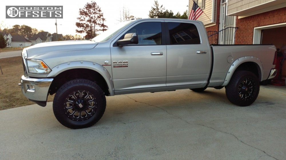 Dodge Ram 1500 Leveling Kit Before And After >> 2013 Ram 2500 Xd Xd806 Hell Bent Steel Leveling Kit