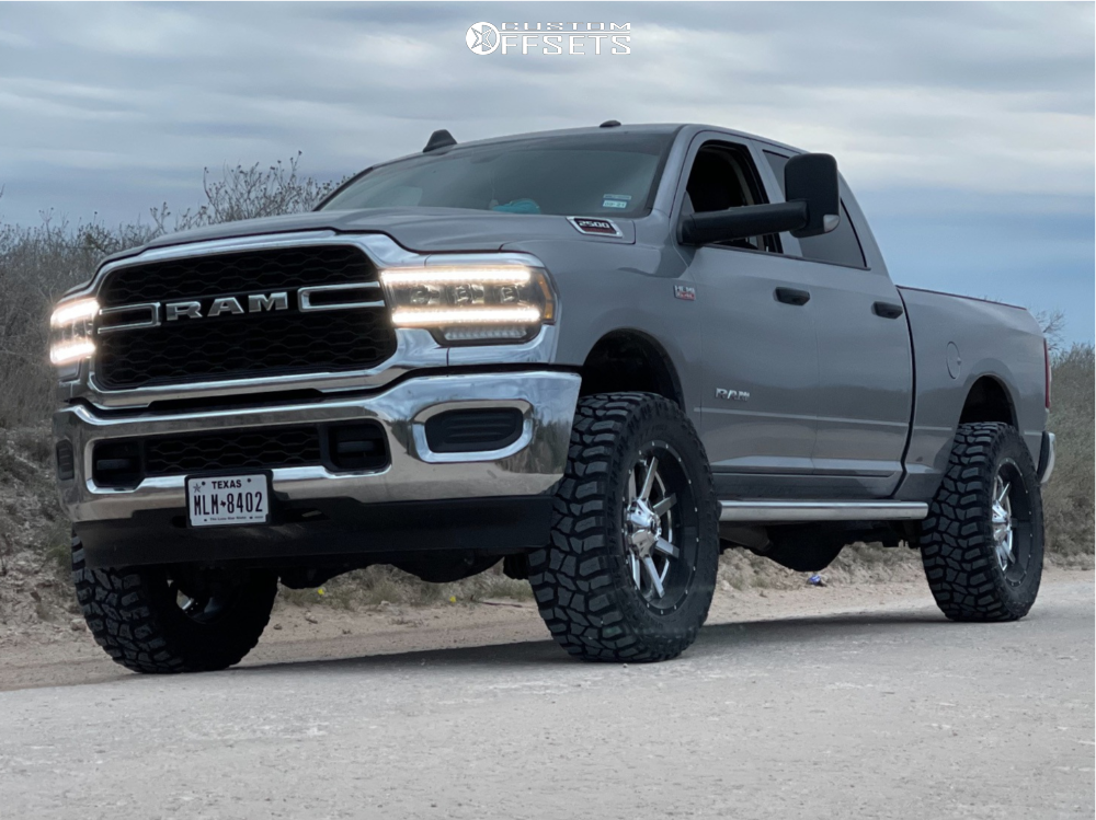 "2019 Ram 2500 Aggressive > 1"" outside fender on 22x10 -24 offset Fuel Maverick and 37""x13.5"" Cooper Discoverer Stt Pro on Suspension Lift 2.5"" - Custom Offsets Gallery"