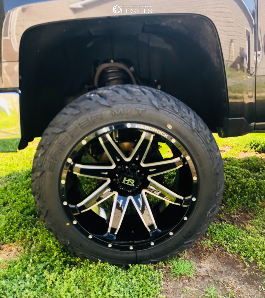 """2014 Chevrolet Silverado 1500 Super Aggressive 3""""-5"""" on 22x12 -44 offset Hardrock Painkiller Xposed and 35""""x12.5"""" Fuel Gripper Mt on Suspension Lift 6"""" - Custom Offsets Gallery"""