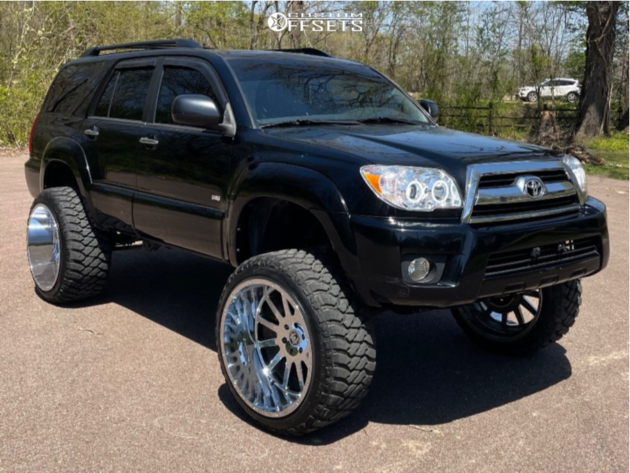 """2007 Toyota 4Runner Super Aggressive 3""""-5"""" on 24x14 -72 offset Hardcore Offroad Hc13 and 35""""x12.5"""" Atlander Roverclaw M/t I on Suspension Lift 7"""" - Custom Offsets Gallery"""