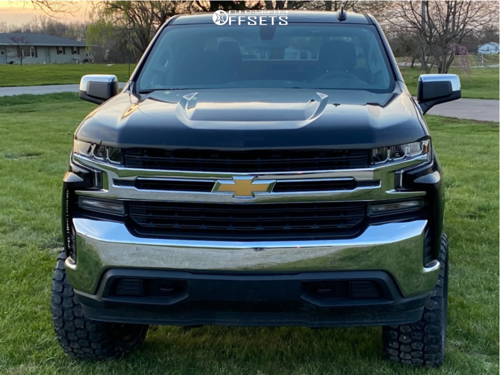 """2020 Chevrolet Silverado 1500 Aggressive > 1"""" outside fender on 20x10 -19 offset Ballistic Rage 959 and 33""""x12.5"""" Ironman All Country Mt on Suspension Lift 6"""" - Custom Offsets Gallery"""