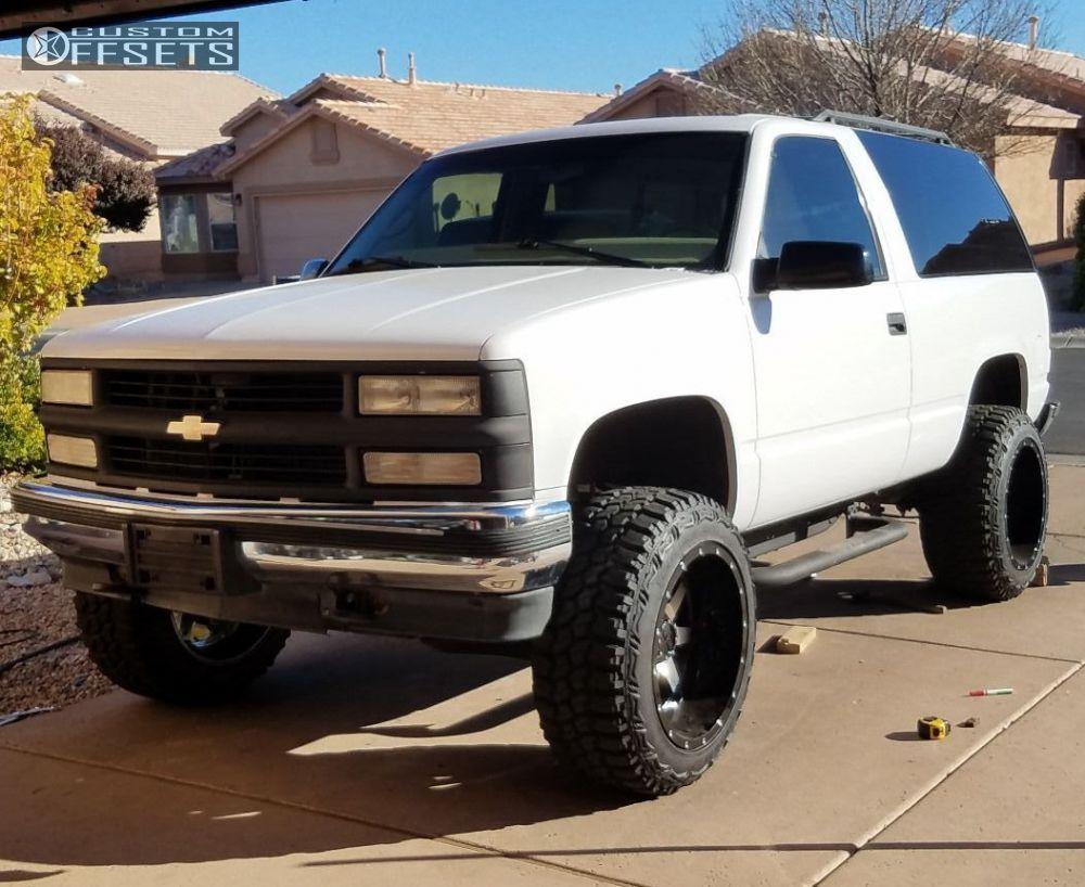 Tahoe 97 chevy tahoe : Wheel Offset 1997 Chevrolet Tahoe Super Aggressive 3 5 Body Lift 3 ...
