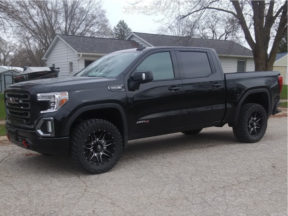 2021 GMC Sierra 1500 Slightly Aggressive on 20x9 0 offset FX Offroad FX-222 and 305/55 Nitto Trail Grappler on Stock Suspension - Custom Offsets Gallery
