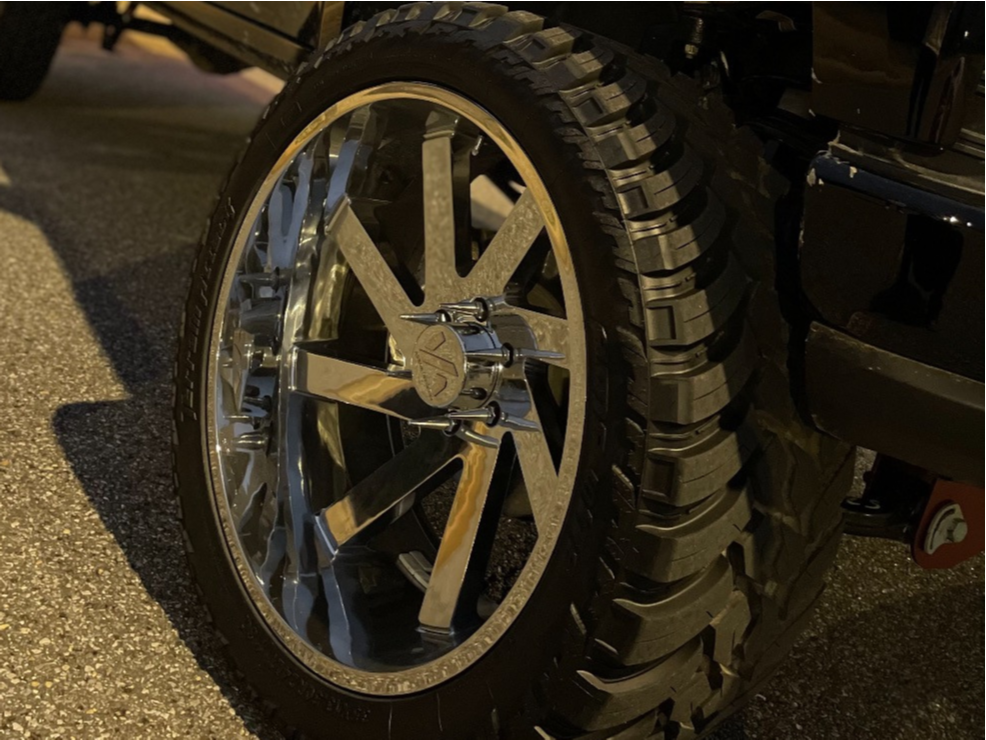 """2021 Chevrolet Silverado 1500 Super Aggressive 3""""-5"""" on 24x12 -51 offset ARKON OFF-ROAD Lincoln and 35""""x13.5"""" AMP Mud Terrain Attack M/t A on Suspension Lift 9"""" - Custom Offsets Gallery"""