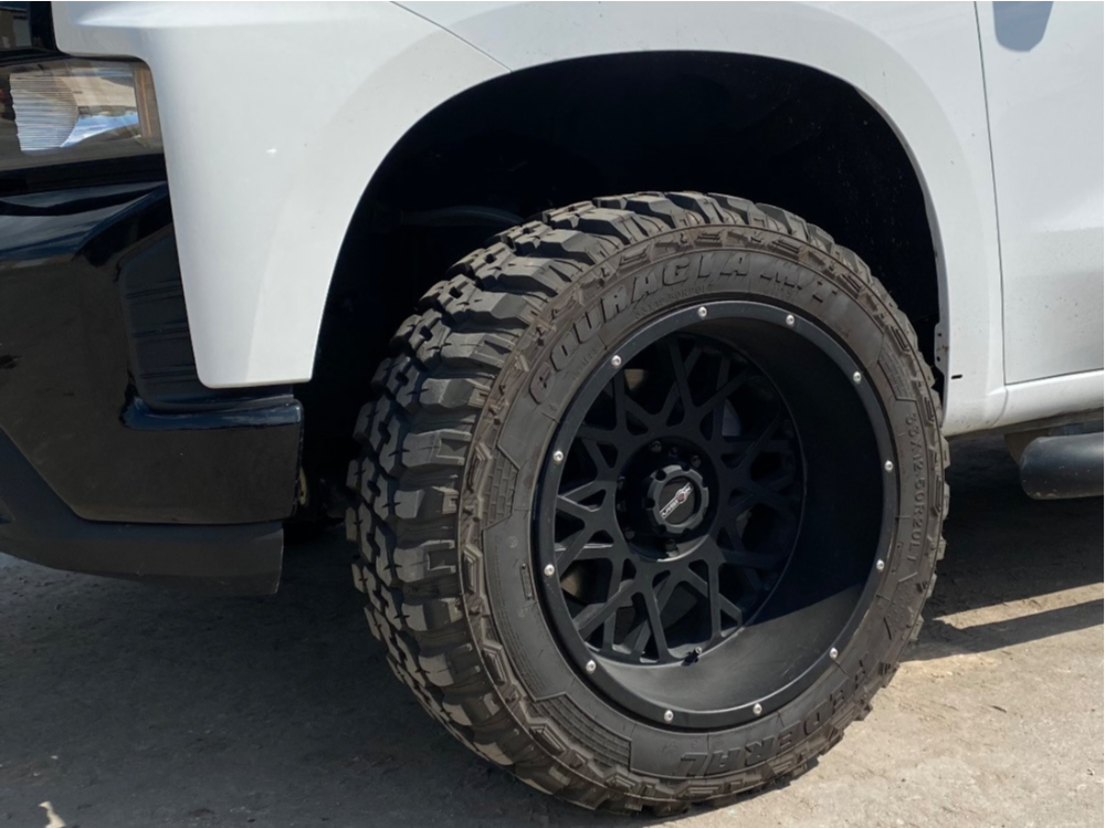 """2019 Chevrolet Silverado 1500 Super Aggressive 3""""-5"""" on 20x12 -55 offset Vision Rocker 412 and 33""""x12.5"""" Federal Couragia M/t on Suspension Lift 2.5"""" - Custom Offsets Gallery"""