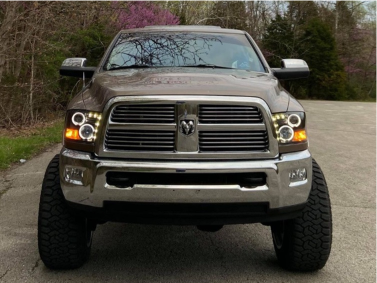"2010 Dodge Ram 2500 Aggressive > 1"" outside fender on 22x14 -76 offset TIS 544c and 37""x13.5"" Fury Offroad Country Hunter Rt on Suspension Lift 6"" - Custom Offsets Gallery"