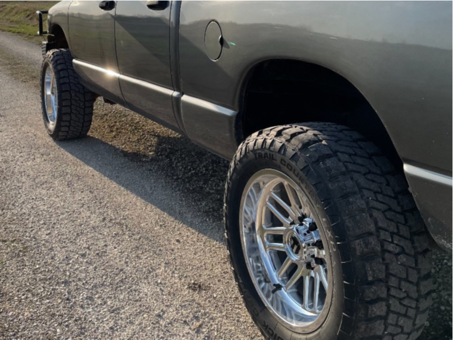 """2005 Dodge Ram 2500 Aggressive > 1"""" outside fender on 20x10 -18 offset Fuel Ignite and 33""""x12.5"""" Dick Cepek Fun Country on Leveling Kit - Custom Offsets Gallery"""
