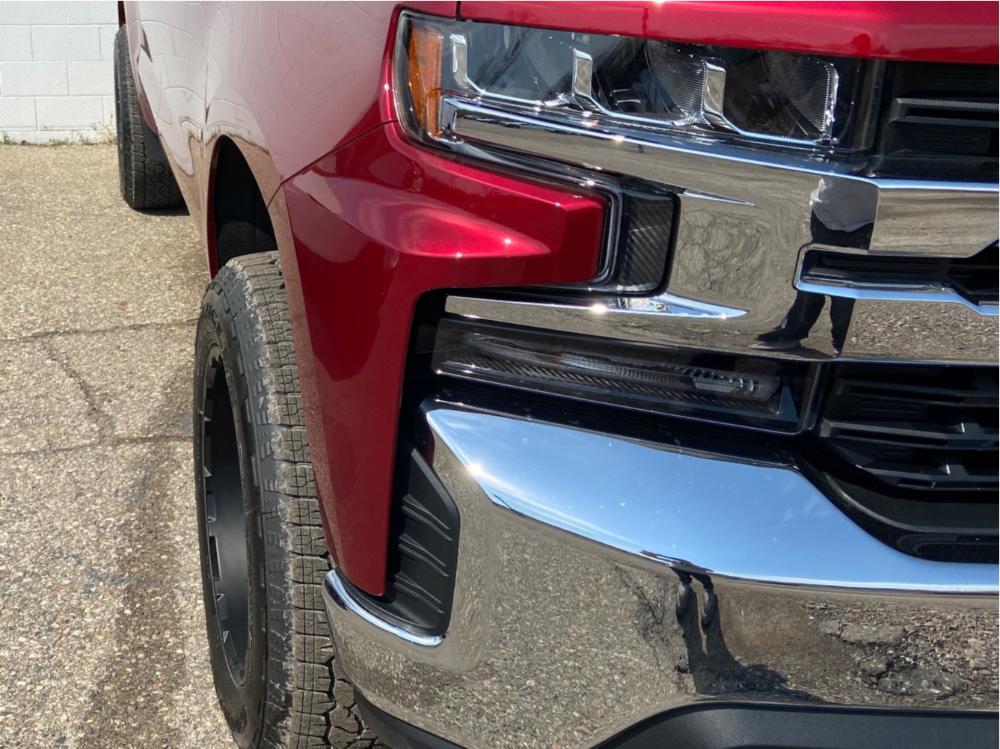 """2019 Chevrolet Silverado 1500 Aggressive > 1"""" outside fender on 20x10 -24 offset Level 8 Slingshot and 275/60 Goodyear Wrangler Trailrunner At on Leveling Kit - Custom Offsets Gallery"""