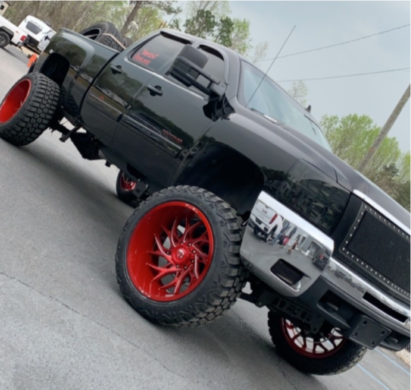 "2008 Chevrolet Silverado 2500 HD Super Aggressive 3""-5"" on 24x14 -74 offset Fuel Runner and 37""x13.5"" Rbp Repulsor Mt Rx on Suspension Lift 7.5"" - Custom Offsets Gallery"