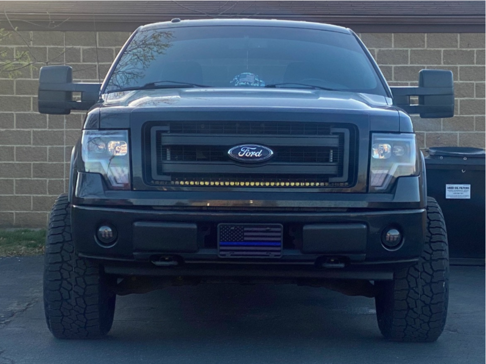 """2013 Ford F-150 Super Aggressive 3""""-5"""" on 20x12 -51 offset Vision Split and 305/55 Falken A/t3 on Leveling Kit - Custom Offsets Gallery"""