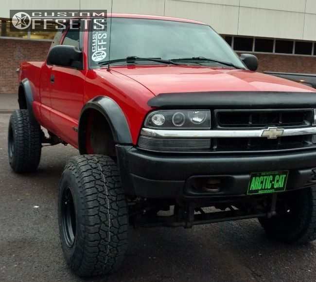 2000 Chevrolet S10 Black Rock 942b Super Lift Lifted 9in
