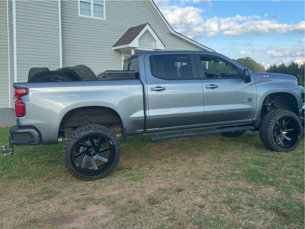 "2020 Chevrolet Silverado 1500 Super Aggressive 3""-5"" on 24x14 -81 offset ARKON OFF-ROAD Lincoln and 35""x13.5"" AMP Mud Terrain Attack M/t A on Suspension Lift 9"" - Custom Offsets Gallery"