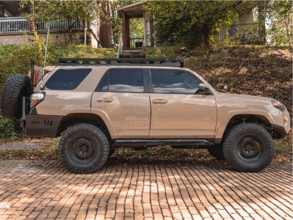 "2018 Toyota 4Runner Slightly Aggressive on 17x8.5 0 offset Fifteen52 Offroad Analog Hd and 305/70 Nitto Ridge Grappler on Suspension Lift 2.5"" - Custom Offsets Gallery"