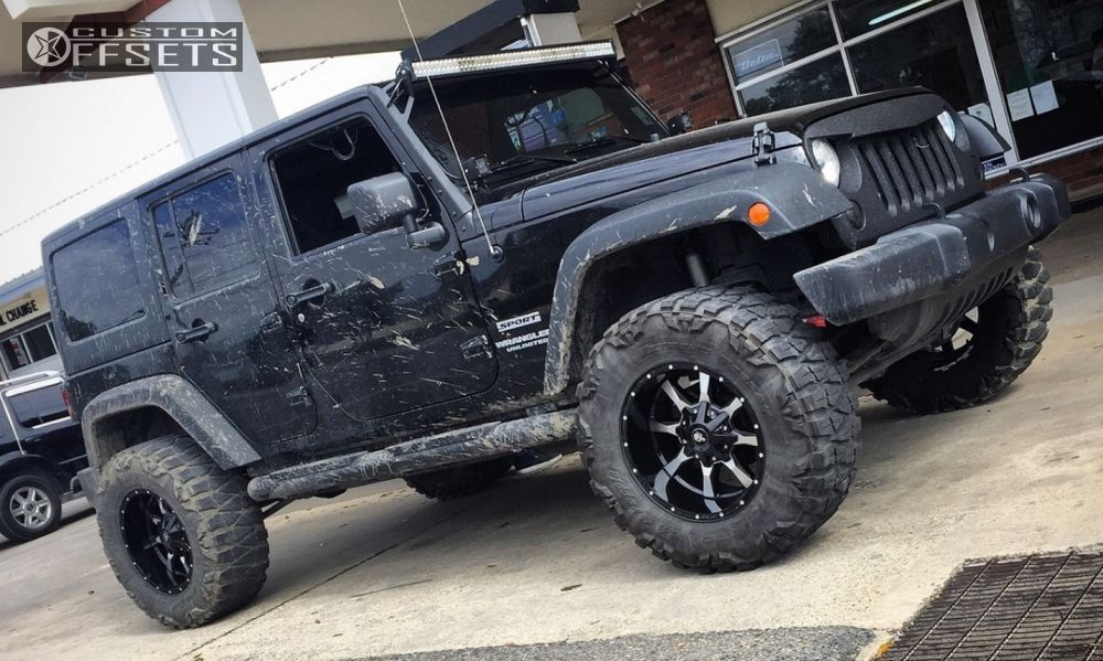 Lifted Black Jk >> 2013 Jeep Wrangler Moto Metal Mo970 Rough Country Suspension Lift 35in