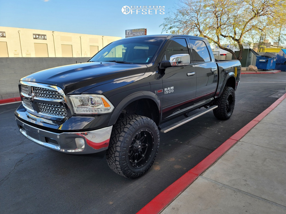 """2018 Ram 1500 Aggressive > 1"""" outside fender on 20x10 -18 offset Fuel Hostage and 35""""x12.5"""" Nitto Ridge Grappler on Suspension Lift 6"""" - Custom Offsets Gallery"""