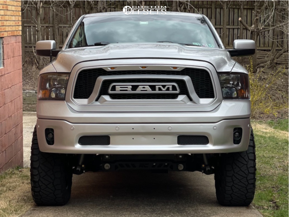 """2014 Ram 1500 Aggressive > 1"""" outside fender on 20x10 -12 offset Fuel Hostage and 35""""x12.5"""" Nitto Ridge Grappler on Suspension Lift 6"""" - Custom Offsets Gallery"""
