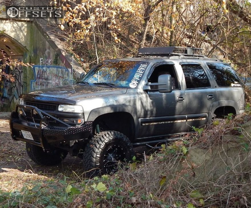 1 2001 Tahoe Chevrolet Suspension Lift 6 Fuel Hostage Ii Black Slightly Aggressive
