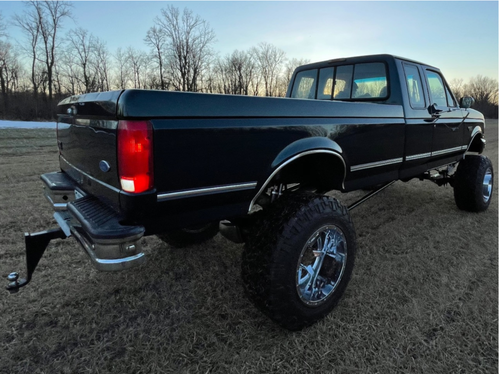 """1997 Ford F-250 Hella Stance >5"""" on 20x14 -73 offset Fuel Maverick D537 and 38""""x13.5"""" Nitto Trail Grappler on Suspension Lift 10"""" - Custom Offsets Gallery"""