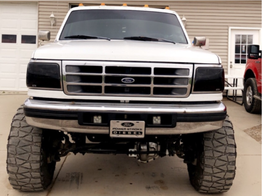 """1997 Ford F-350 Super Aggressive 3""""-5"""" on 20x14 -81 offset Cali Off Road Twisted 9102 and 37""""x13.5"""" Nitto Mud Grappler on Suspension Lift 6"""" - Custom Offsets Gallery"""