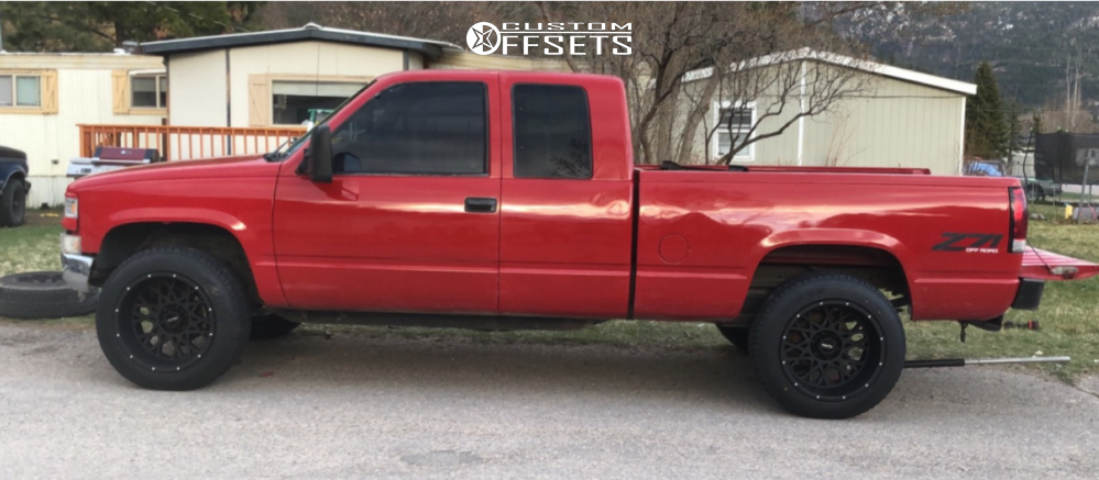 """1997 Chevrolet K1500 Super Aggressive 3""""-5"""" on 20x12 -51 offset Vision Rocker and 32""""x12.5"""" Atturo Trail Blade At on Stock Suspension - Custom Offsets Gallery"""