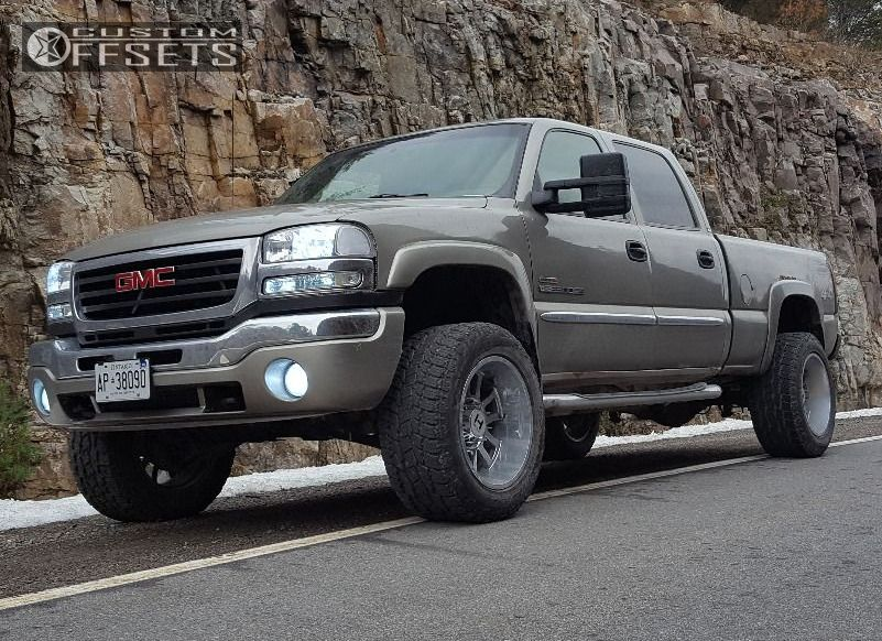 1 2003 Sierra 2500 Hd Gmc Suspension Lift 3 Hostile Gauntlet Chrome Super Aggressive 3 5