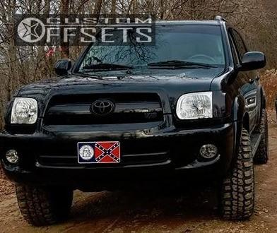 15 2005 Sequoia Toyota Leveling Kit Gear Alloy Big Block Black Aggressive 1 Outside Fender