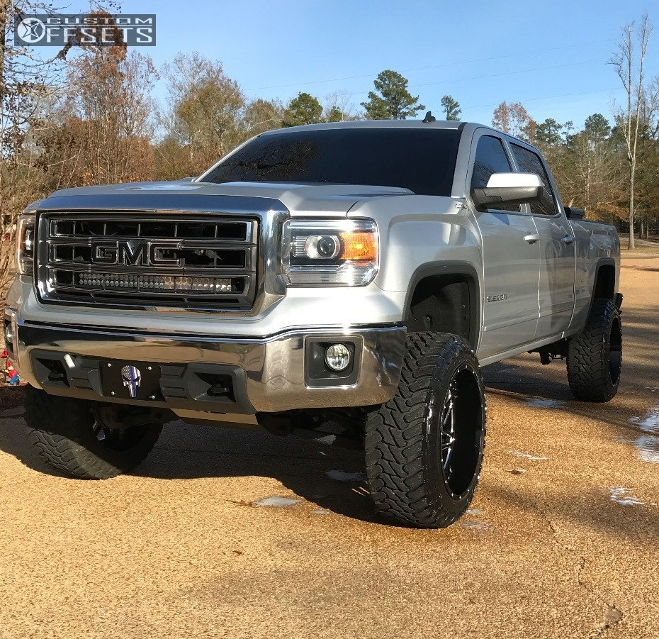 1 2014 Sierra 1500 Gmc Suspension Lift 6 Hostile Sprocket Black Super Aggressive 3 5
