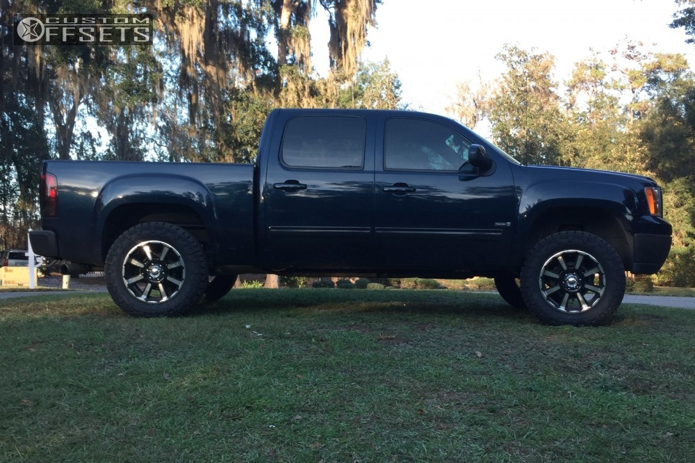 4 2007 Sierra 1500 Gmc Suspension Lift 35 Mkw M81 Machined Accents Slightly Aggressive