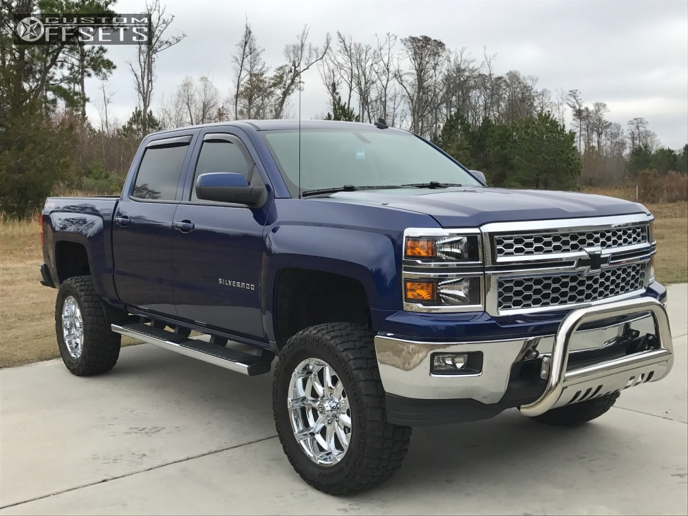 15 2014 Silverado 1500 Chevrolet Suspension Lift 6 Xd Badlands Chrome Aggressive 1 Outside Fender