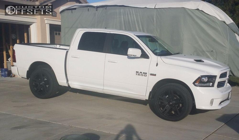 16667 1 2014 ram 1500 dodge stock american outlaw hollywood black nearly flushjpg - Dodge Truck 2015 Custom
