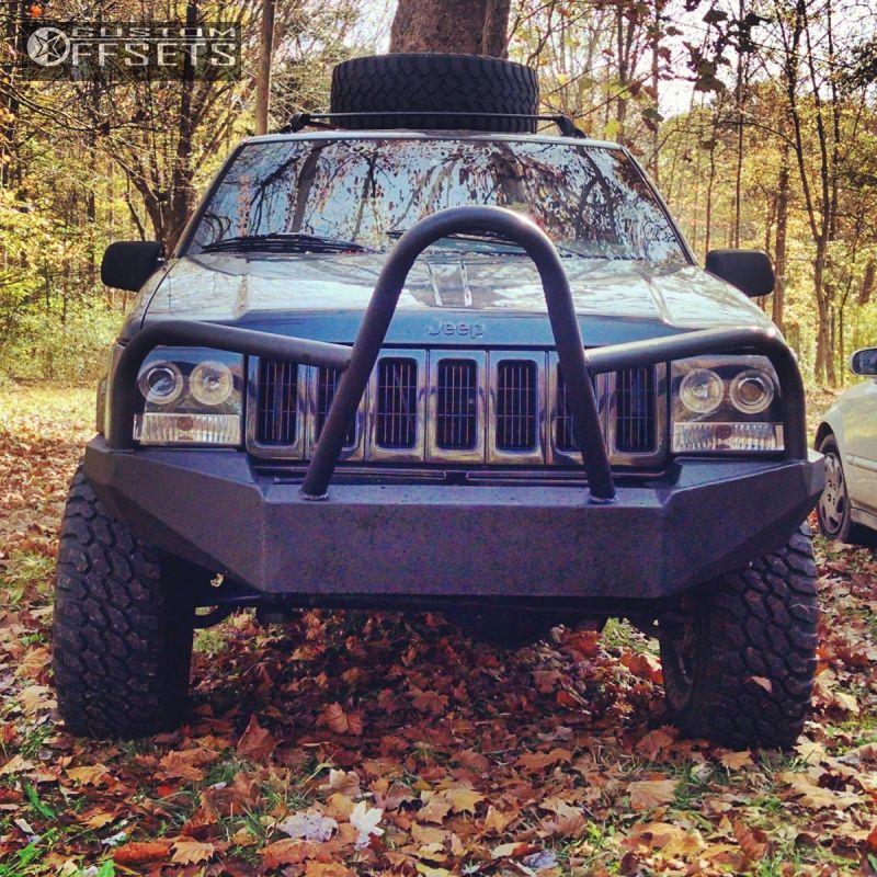 2 1998 Grand Cherokee Jeep Suspension Lift 4 Procomp Steelies Black Aggressive 1 Outside Fender